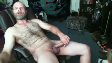 Big Dick Daddy With Prince Albert Jerks Off On Webcam