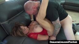 Cougar Deauxma Subdued & Tied Up By Ariella Ferrara & 2 Men!