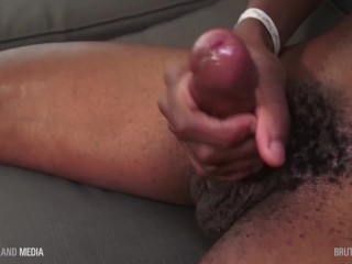 Issac banks oils up his handsome...