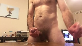 Milking my cock for cum