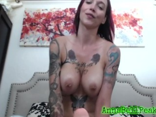 TATTED ANNABELL PEAKS LOVE TO USE TOYS IN HER HOLES