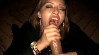 Sloppy latina babe tongue for gives deepthroat bbc cumshot cumshot blowjob
