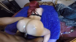 Thick white girl suck & fucks with perfect POV!