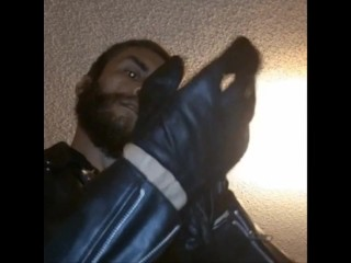 Wearing pull gloves on tight to smack that...
