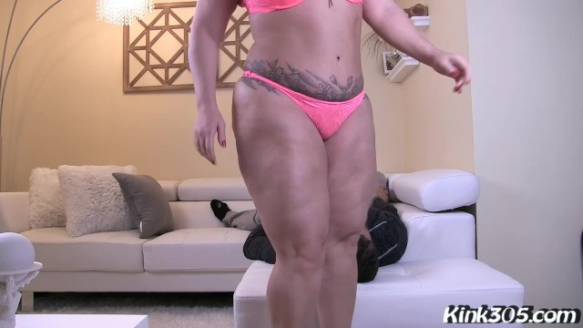Sexy Bbw Betty Bangs loves smothering her slaves face with her pussy 11