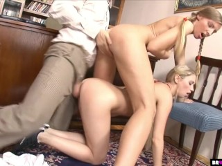 Principal Punishes Petite Teen Students