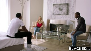 BLACKED Mia Malkova Gets Dominated By Two BBCs Cumshot fucking