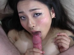 : Creampie Asian Rough Fuck Until She Shakes!! - Rae Lil Black