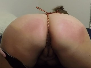 MILF Gets Punished for Being Disrespectful - BDSM, Spanking, Rope
