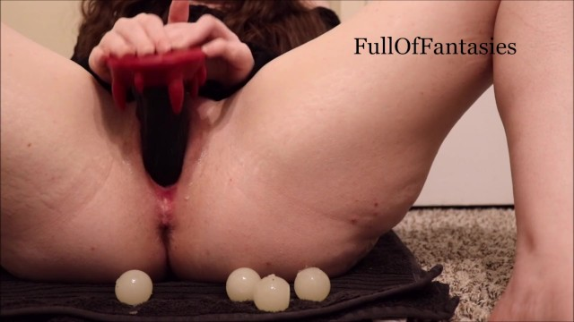 Vaginal piersing - Playing with my ovipositor, squick oral pussy egg birth