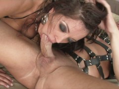 FRANCESCA LE - HORNY HOUSEWIFE DRESSES UP FOR DADDY LEATHER BONDAGE SHOW