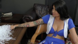 Cheerleader Takes Over The School - Brenna Sparks - Femdom  ass worship face sitting slave femdom asian kink brunette feet tattooed mistress big butt ass licking meanbitches