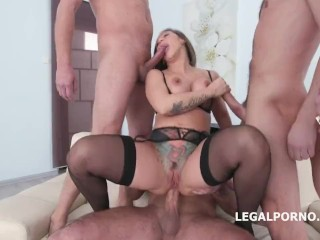 LegalPorno Trailer - Fucking Wet 4on1 with Betty Foxxx
