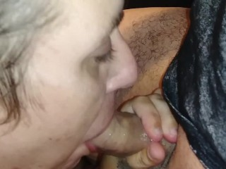 Sucking Cum Out Of Daddy's Dick