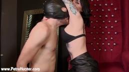 Slave made to worship Mistress's stinky armpits