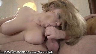 LustyGrandmas Busty GILF Loves Fresh Dick Cosplay pov