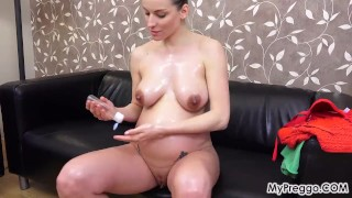 Plays pussy and her oils victoria up with belly mypreggo