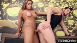 Tgirl Juliana Souza and Guy Trade Fucks