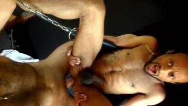 Big Dick Daddy Fucks Hot Interracial Otter Bareback in Sling