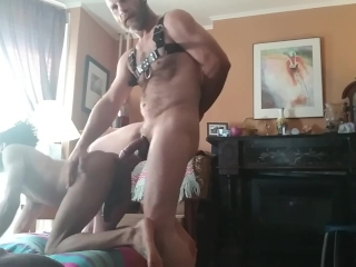 Bareback Big Dick Daddy Fucks Hot Interracial Otter (Clip)