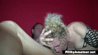 Orgy for housewives cock with amateur hungry blonde job