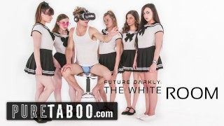 PURE TABOO Pervert Busdriver Clones Schoolgirls into VR Group Sex Acts