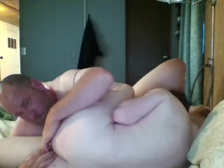 """Michael's cum kissing creampie, """"I came so hard in his sweet little ass"""""""