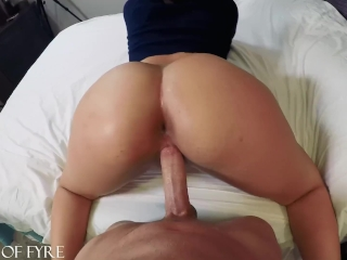 Thick Teen ASS Bouncing on My Cock -Valentina Jewels