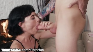 Thick Cock Explodes on Olives Face After Messy Blowjob Anal style