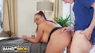 BANGBROS - Big Tits British Cougar Emma Butt Demands Massage From Step Son View cocksucking