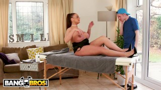 BANGBROS - Big Tits British Cougar Emma Butt Demands Massage From Step Son