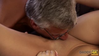 DADDY4K. Middle-aged man has fun with son's unsatisfied girlfriend Family mother