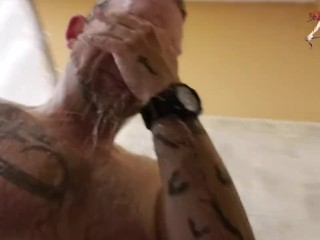 Sir Kink after work out shower time!