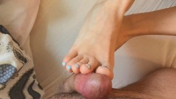 A Treat For Her Feet | Soft Footjob, Toejob And Handjob | Cum On Toes