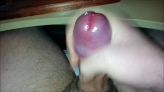 Edging Out Lots Of Creamy Precum Before Finally Erupting