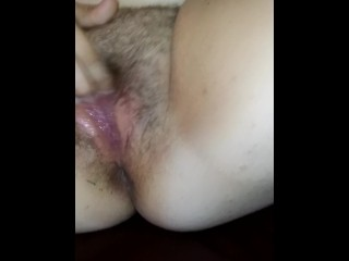 Pregnant 19 year old playing with her pussy. Getting ready for daddy