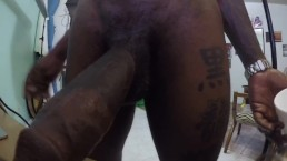 XxBlackBeastxX Stroking his BBC and bust A huge load in CUP