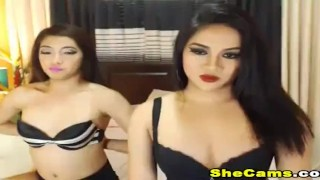 Two Hot Shemales in a Sexy Playtime on cam