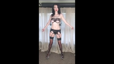 burlesque goddess sultry strip tease