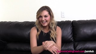 First Time Anal For Big Tits Blonde MILF on Casting Couch