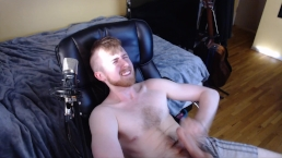 HOT YOUNG STUD DAVE NAZAR JERKS AND SHOWS OFF HIS BIG UNCUT COLLEGE DICK