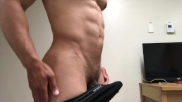 Sexy big cock tease from ripped guy