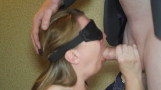 Submissive Wife Gets Birthday Surprise in Hotel. Anonymous Cock to Please.