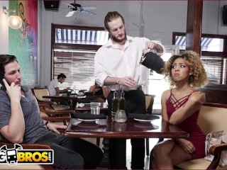 BANGBROS - Xianna Hill Is Being Ignored By Her Boyfriend At Restaurant