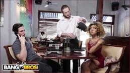 BANGBROS - Xianna Hill Is Being Ignored By Her Boyfriend At Restaurant