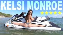BANGBROS - Latina Pornstar Kelsi Monroe Shows Off Big Ass, Rides Jetski