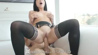 PASSION-HD Big dick treat for aggressive masturbating girlfriend Mouth anal