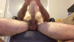 Long jerk and fleshlight creampie with some POV