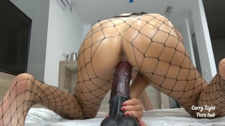 Tiny Teen pounded with massive horse cock - creampie - Solo CarryLight Tits cougar