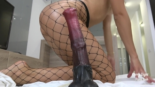 Tiny Teen pounded with massive horse cock - creampie - Solo CarryLight porno
